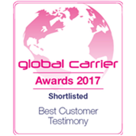 Shortlisted for best customer testimony